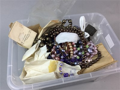 Lot 4-A COLLECTION OF COSTUME JEWELLERY