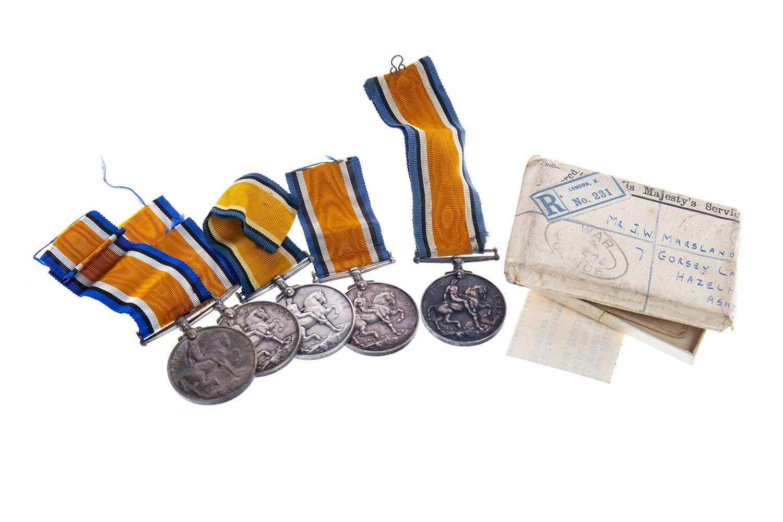 Lot 1625-A LOT OF FIVE BRITISH WAR 1914-18 MEDALS