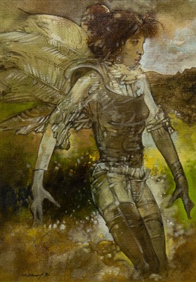 Lot 412-FALLEN ANGEL, AN OIL BY NEIL LAMONT