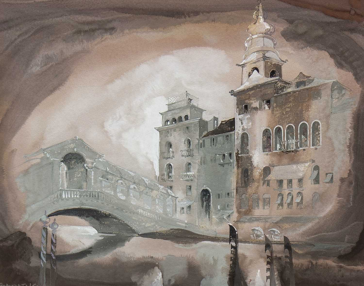 Lot 414-RIALTO BRIDGE, A WATERCOLOUR BY FREDERICK T COOK