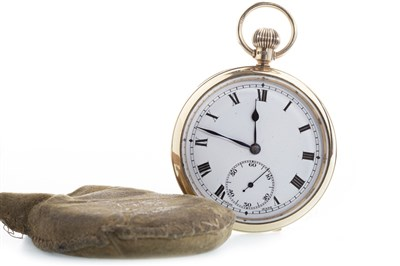 Lot 797-A NINE CARAT GOLD OPEN FACE POCKET WATCH