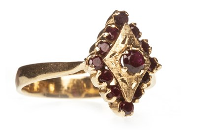 Lot 145-A RED GEM SET RING