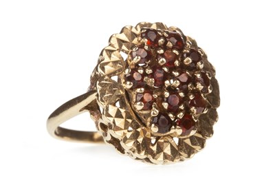 Lot 147-A RED GEM SET RING