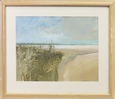 Lot 518-COASTAL SCENE, AN OIL BY HUGH HCINTYRE