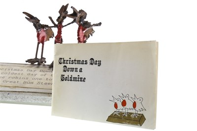 Lot 556-CHRISTMAS DAY DOWN A GOLDMINE, A SCULPTURE BY GEORGE WYLLIE