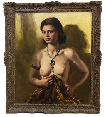 Lot 409-THE EMERALD NECKLACE, AN OIL BY COLIN COLAHAN