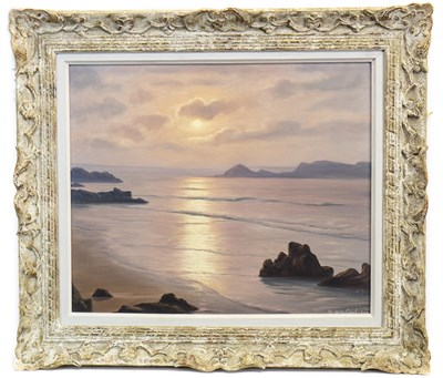 Lot 407-THE MIST OF EARLY MORNING, AN OIL BY ROGER DE LA CORBIERE