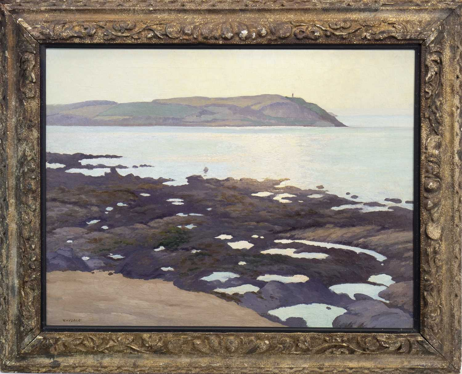 Lot 408-NEAR PADSTOW NORTH CORNWALL, AN OIL BY ERNEST HERBERT WHYDALE