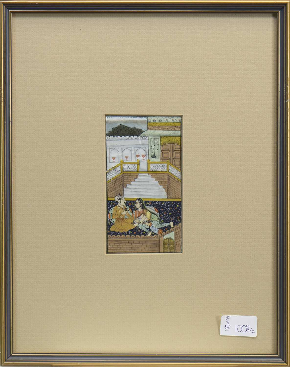 Lot 1008-A LOT OF TWO 20TH CENTURY MUGHAL PAINTINGS
