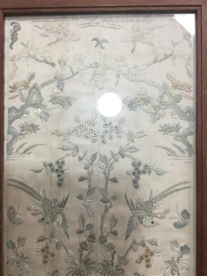 Lot 1007-AN EARLY 20TH CENTURY CHINESE EMBROIDERY