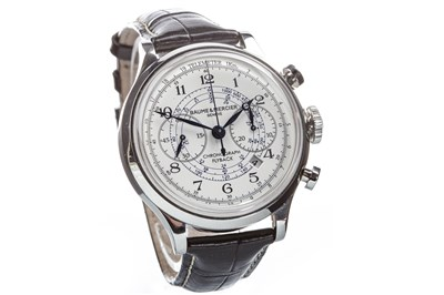 Lot 790-A GENTLEMAN'S BAUME AND MERCIER CAPELAND STEEL WATCH