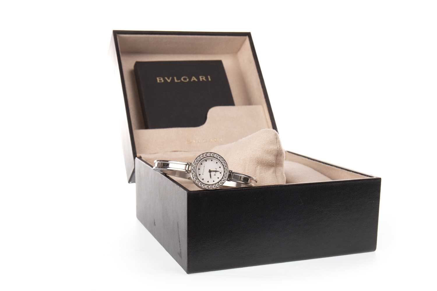 Lot 804-A LADY'S BULGARI DIAMOND SET BANGLE WATCH