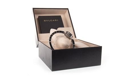 Lot 804-A LADY'S BULGARI DIAMOND SET BANGLE WATCH