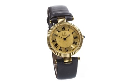 Lot 783-A GENTLEMAN'S DUNHILL GOLD QUARTZ WRIST WATCH