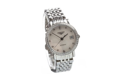 Lot 810-A LADY'S LONGINES DIAMOND WATCH