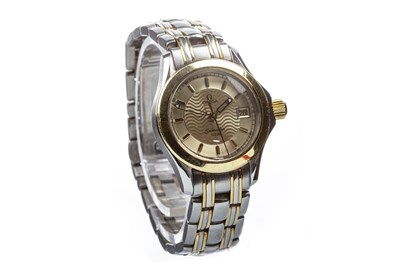 Lot 801 - A LADY'S OMEGA SEAMASTER STEEL WATCH