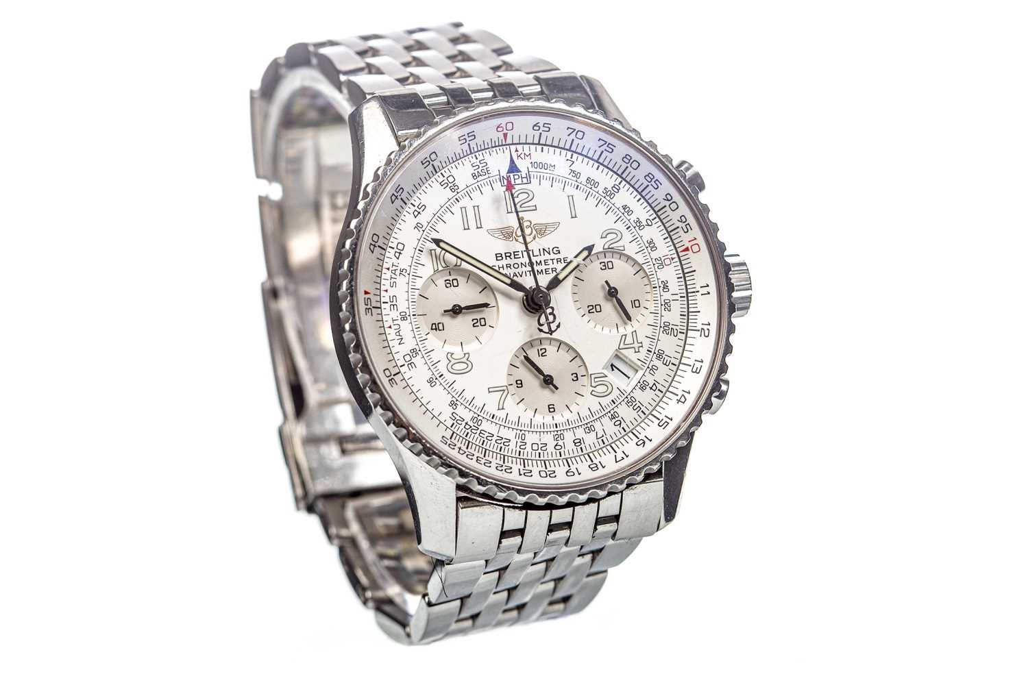 Lot 809-GENTLEMAN'S BREITLING CHRONOMETRE NAVITIMER AUTOMATIC WATCH