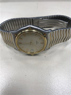 Lot 811-A GENTLEMAN'S EBELSTAINLES STEEL BI COLOUR WRIST WATCH