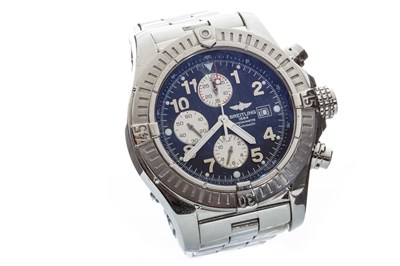 Lot 802-A GENTLEMAN'S BREITLING STEEL WATCH