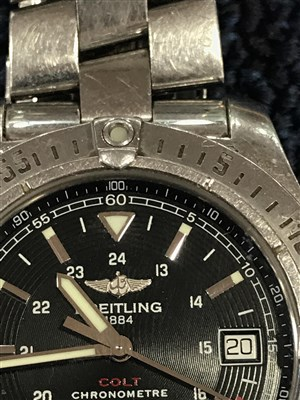 Lot 837-A GENTLEMAN'S BREITLING AUTOMATIC STEEL WATCH