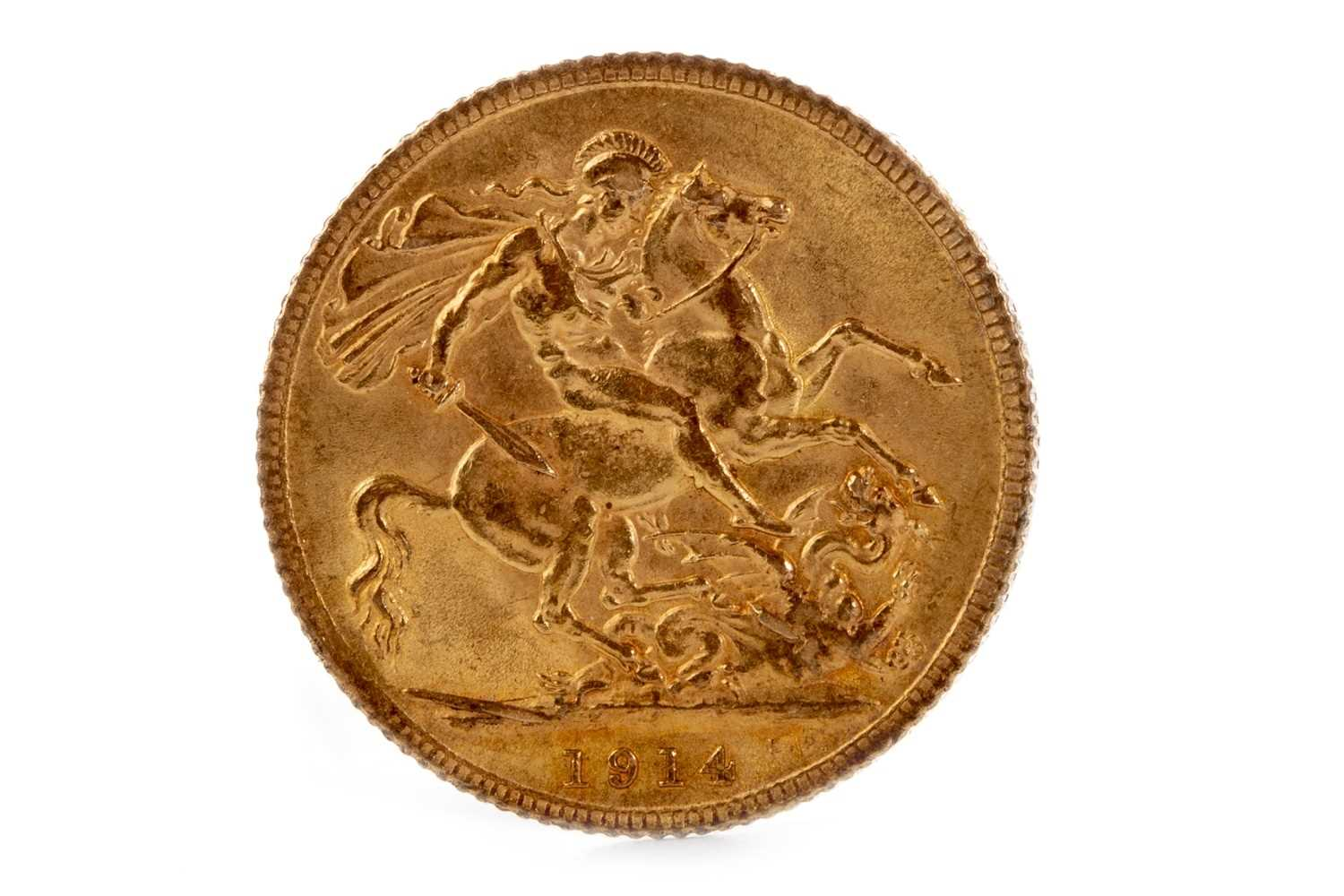 Lot 553-A GOLD SOVEREIGN, 1914