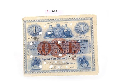 Lot 635-A THE UNION BANK OF SCOTLAND LIMITED £1 1906