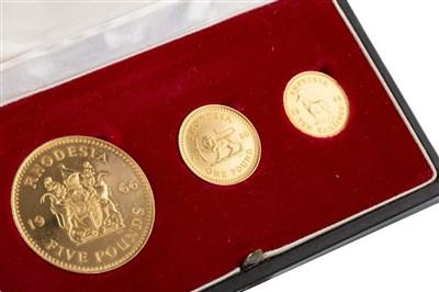 Lot 554-A 1966 BANK OF RHODESIA SALISBURY GOLD COIN SET