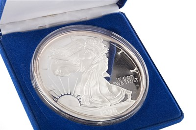Lot 555-A SILVER THE GIANT AMERICAN EAGLE SILVER PROOF COIN
