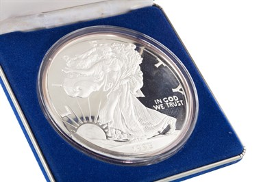 Lot 557-A SILVER THE GIANT AMERICAN EAGLE SILVER PROOF COIN