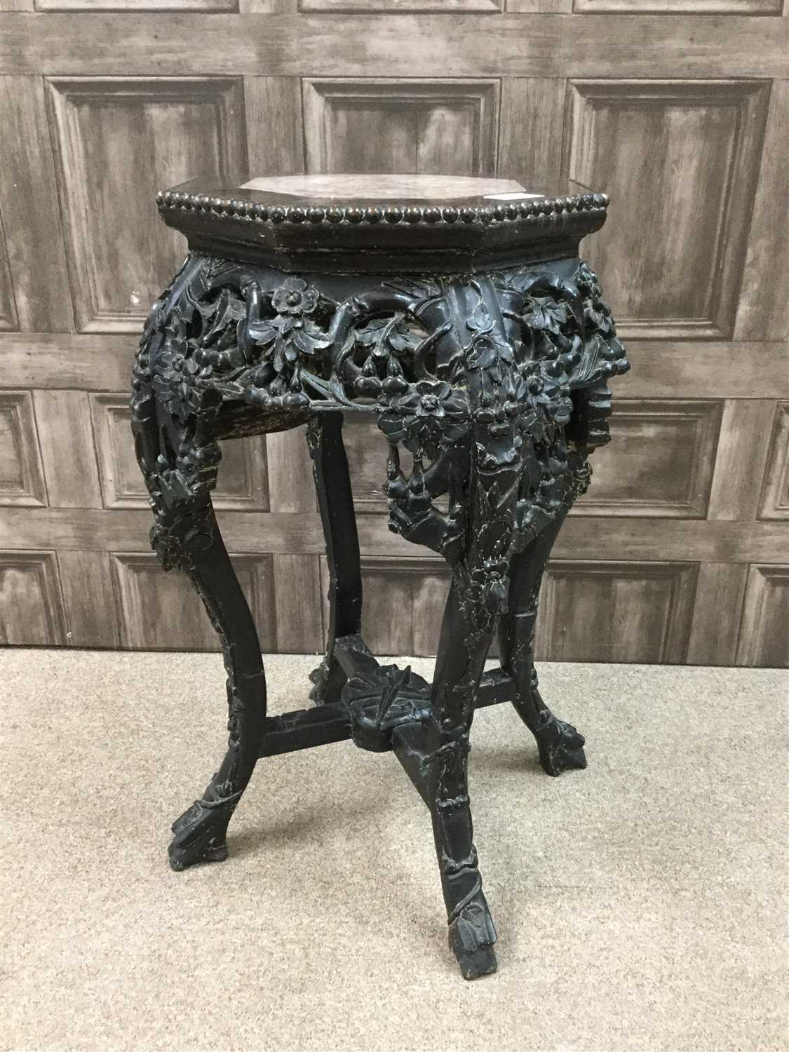 Lot 1006-A 20TH CENTURY CHINESE HARDWOOD JARDINIERE STAND