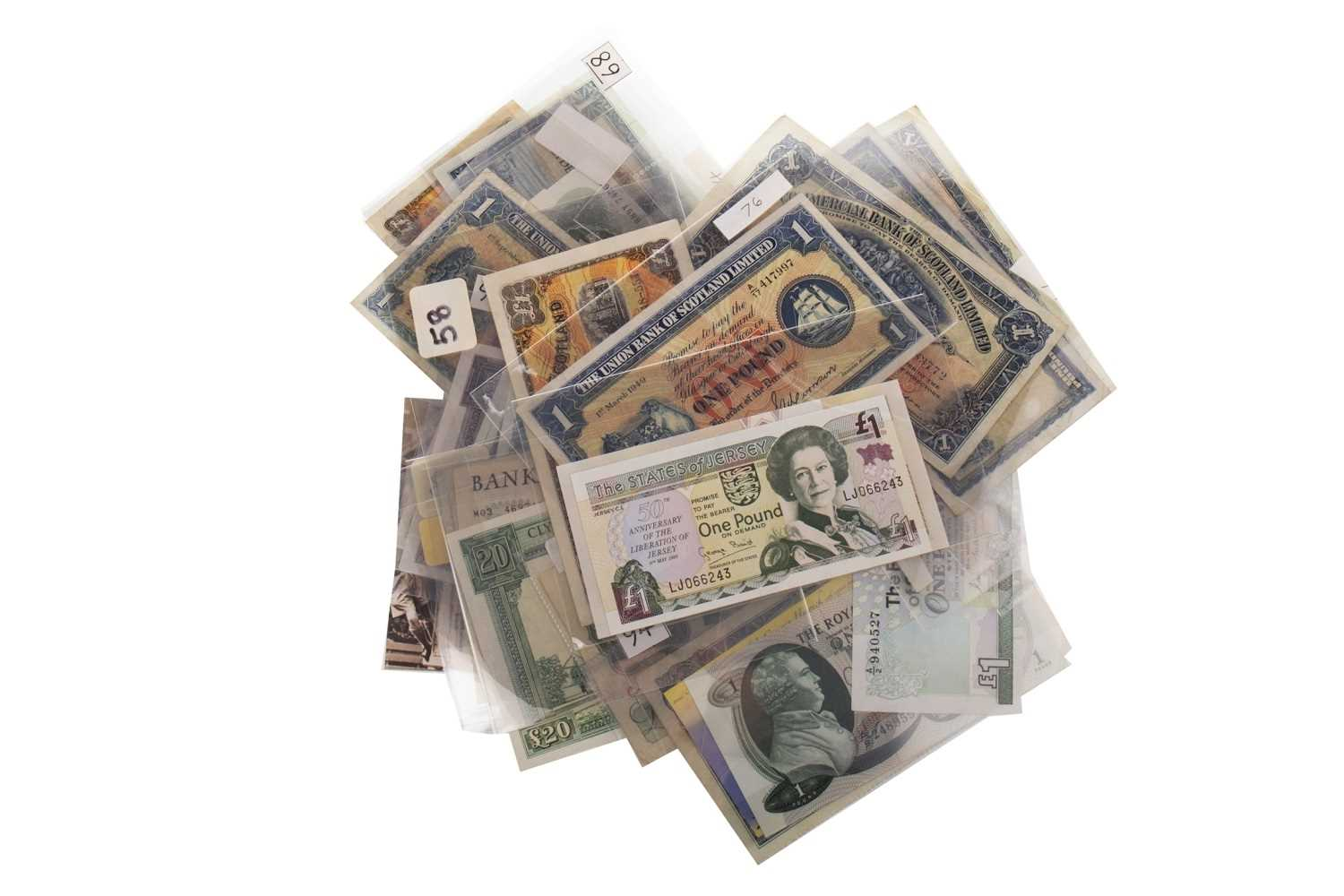 Lot 567-A COLLECTION OF VARIOUS 20TH CENTURY BANKNOTES