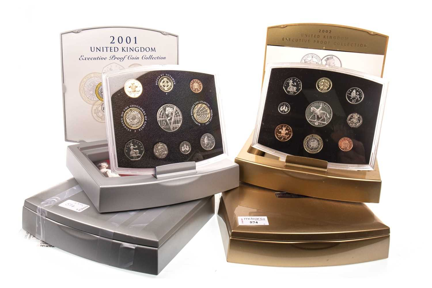 Lot 574-FOUR THE ROYAL MINT EXECUTIVE PROOF COLLECTIONS
