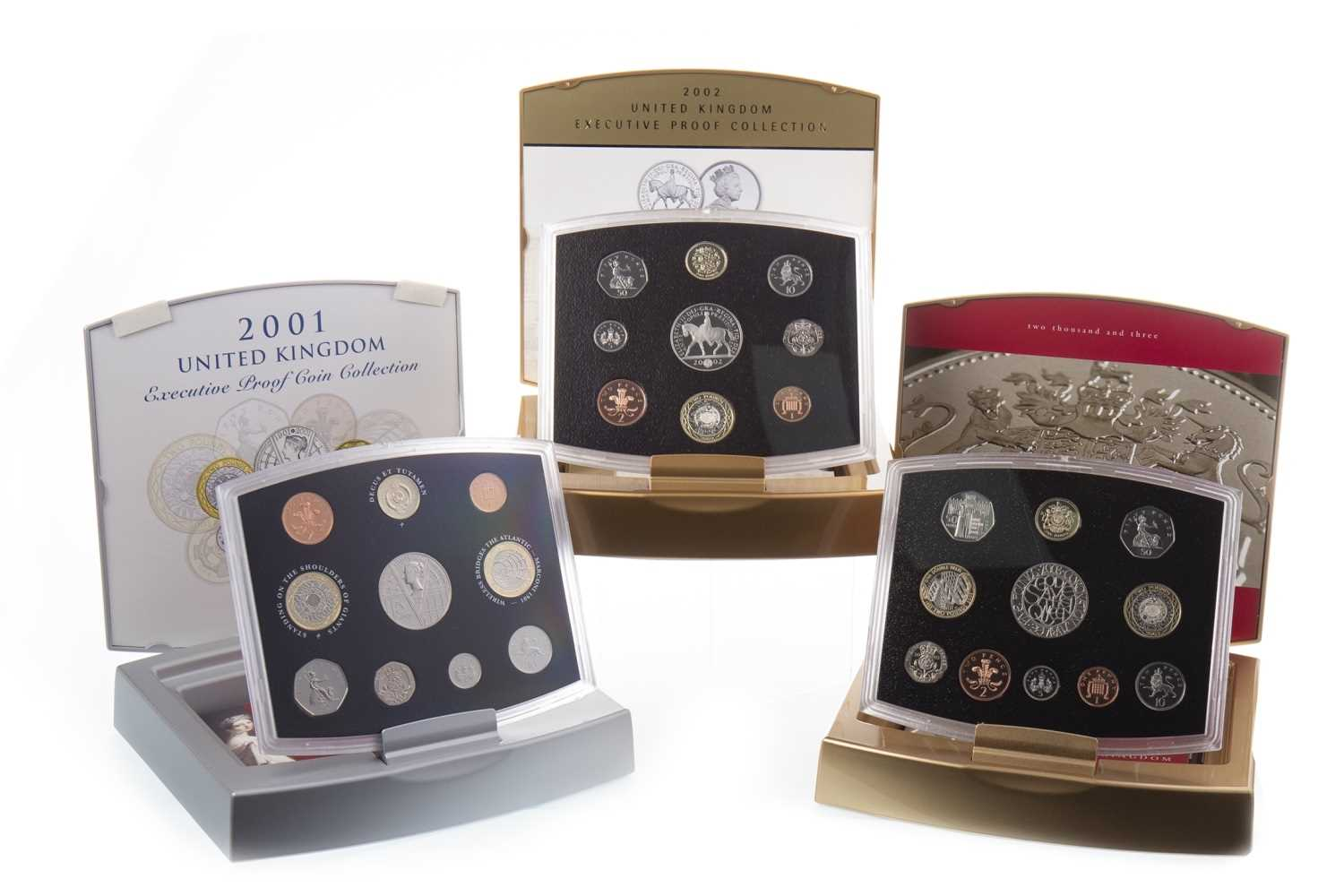 Lot 586 - THREE UNITED KINGDOM EXECUTIVE COIN COLLECTIONS