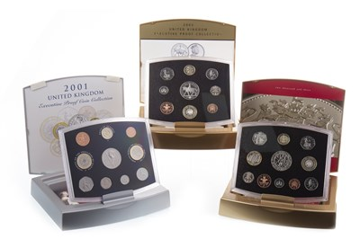 Lot 586-THREE UNITED KINGDOM EXECUTIVE COIN COLLECTIONS