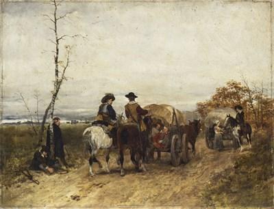 Lot 406-HEINRICH BRELING (1849-1914) APRES LA BATAILLE