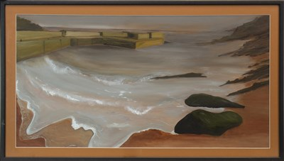 Lot 416-LANDSCAPE, A MIXED MEDIA BY JULIA WYNESS