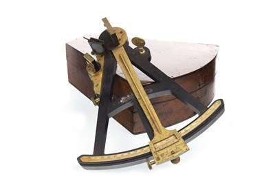 Lot 1429-AN EARLY 20TH CENTURY SEXTANT FRAME