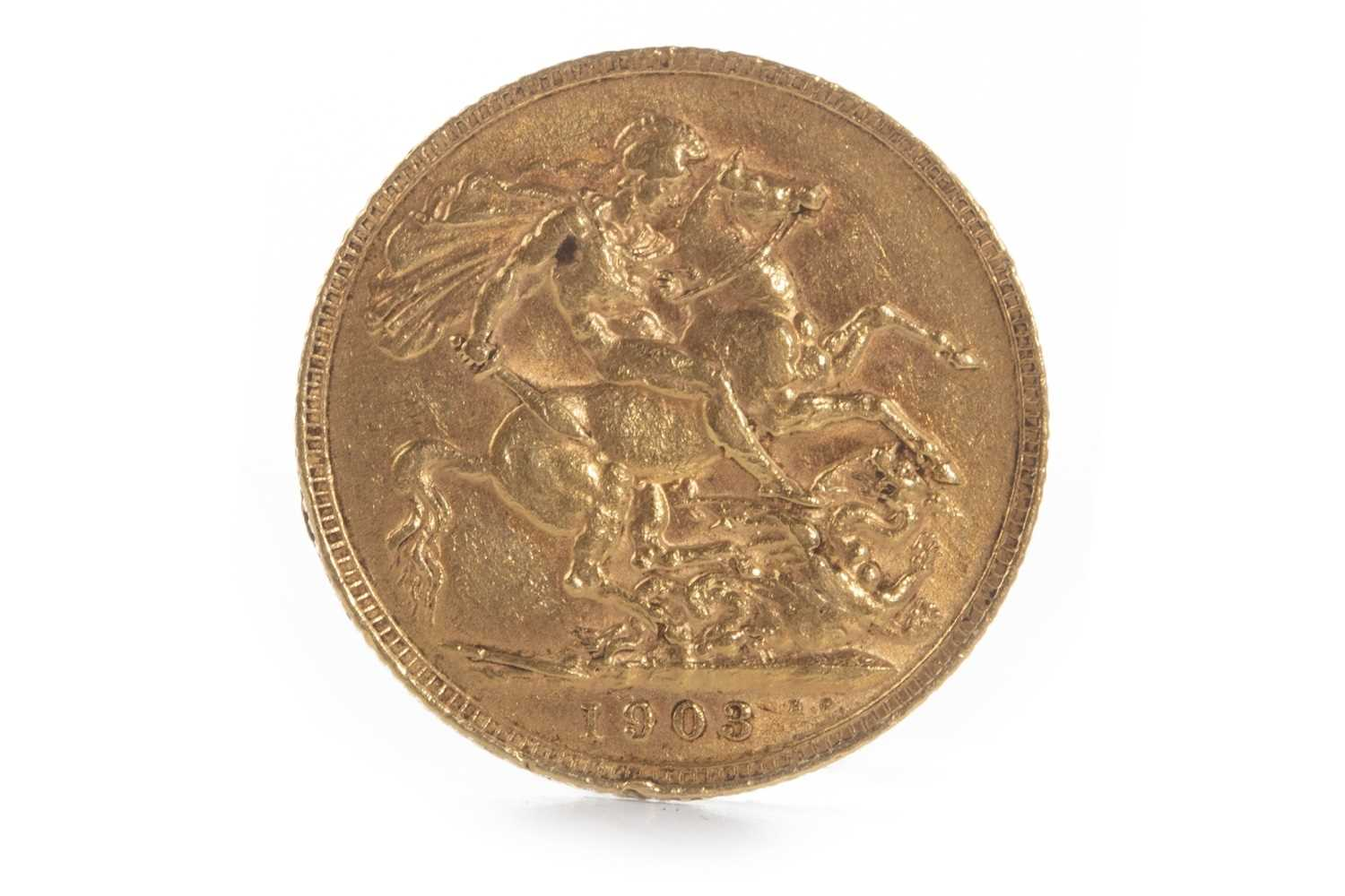 Lot 594-A GOLD SOVEREIGN, 1903