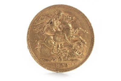 Lot 594 - A GOLD SOVEREIGN, 1903
