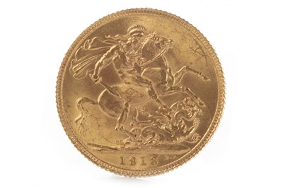 Lot 595-A GOLD SOVEREIGN, 1913