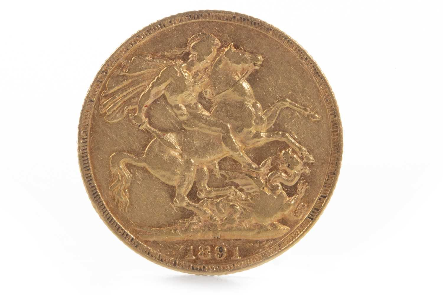 Lot 596-A GOLD SOVEREIGN, 1891
