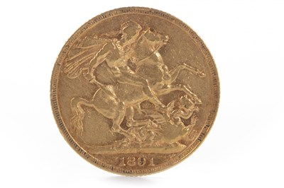 Lot 596 - A GOLD SOVEREIGN, 1891