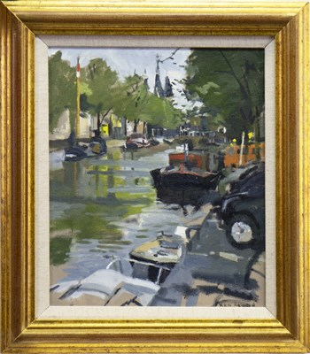 Lot 565-AMSTERDAM, AN OIL BY KEN HOWARD