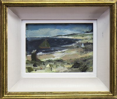 Lot 522-SAILING IN THE BAY, AN OIL BY JOHN BYRNE
