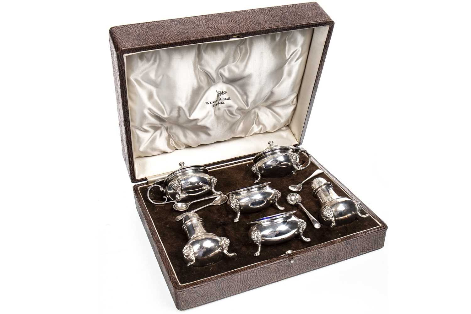 Lot 805-A CASED SILVER CRUET SET
