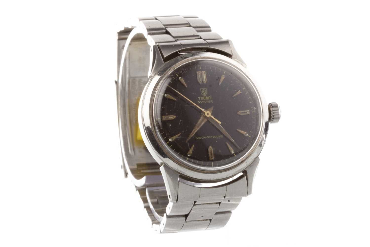 Lot 843-A GENTLEMAN'S TUDOR OYSTER STEEL WRIST WATCH