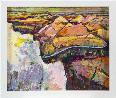 Lot 434-GRAND CANYON, A MIXED MEDIA BY ANNETTE EDGAR