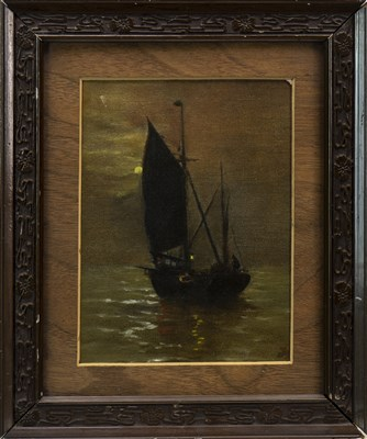Lot 435-BOAT ON CALM WATERS, AN OIL