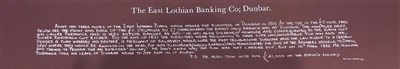 Lot 599-AN EAST LOTHIAN BANKING COMPANY £1 ONE POUND NOTED, UNDATED