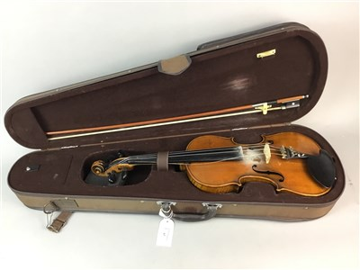 Lot 1434-A 20TH CENTURY VIOLIN IN FITTED CASE